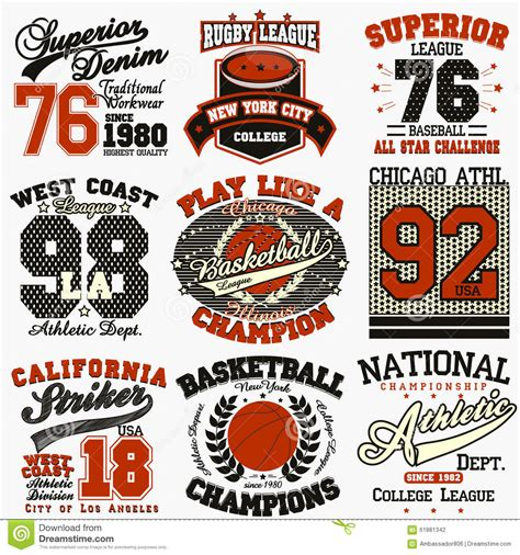 Tshirt Logo U A sport t shirt set stock vector image 61881342