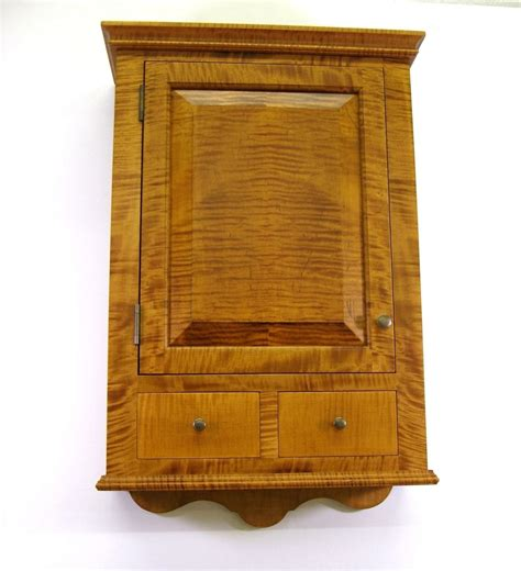 In Wall Spice Cabinet Crafted Tiger Maple Spice Cabinet Wall Cupboard By