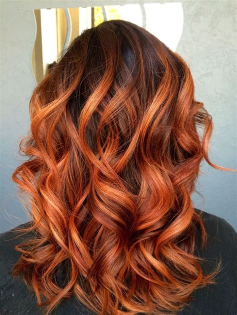 copper red ombre hair balayage pretty red copper balayage hair done by sonja bush