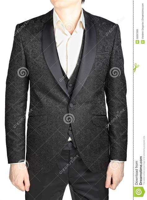 black pattern suit black patterned wedding bridegroom suit without tie