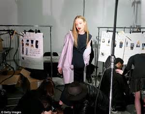 Models Get Dressed Backstage kesha flashes bra as she ups the in powder at new york fashion week daily mail