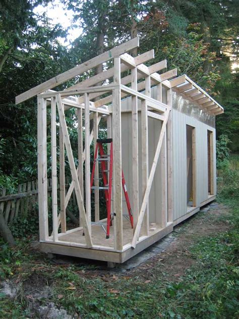 rat hole shed part  framing walls  rafters unit