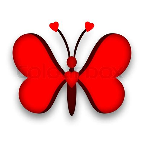 Butterfly Home Decor by Butterfly Red Heart Design Stock Photo Colourbox
