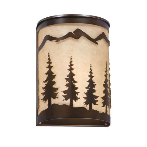Pocket Wall Sconce Shop Cascadia Lighting Yosemite 8 In W 1 Light Burnished Bronze Pocket Wall Sconce At Lowes