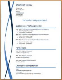 curriculum vitae model 10 mod 232 le cv original gratuit word format lettre