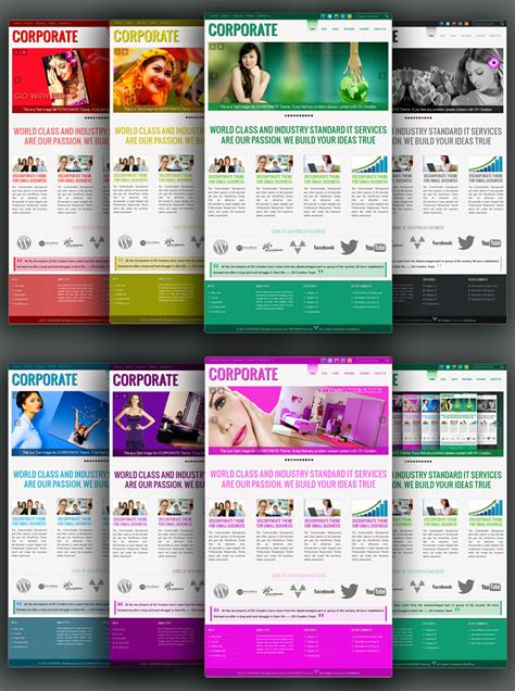 wordbrain themes colors level 5 corporate the best wordpress premium themes