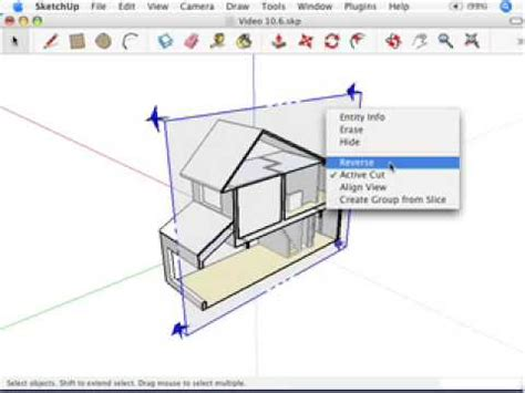 sketchup sections sketchup cutting plans and sections youtube