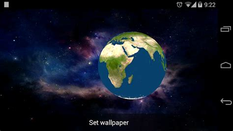 android live wallpaper rotating earth rotating earth 3d wallpaper android
