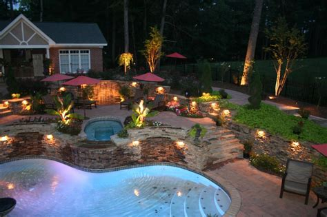 landscape lighting layout design outdoor landscape lighting design