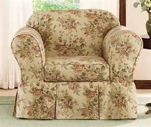 Floral Sofa Slipcover New Sure Fit Sofa Arm Chair Slipcover Floral Larchmont Ebay