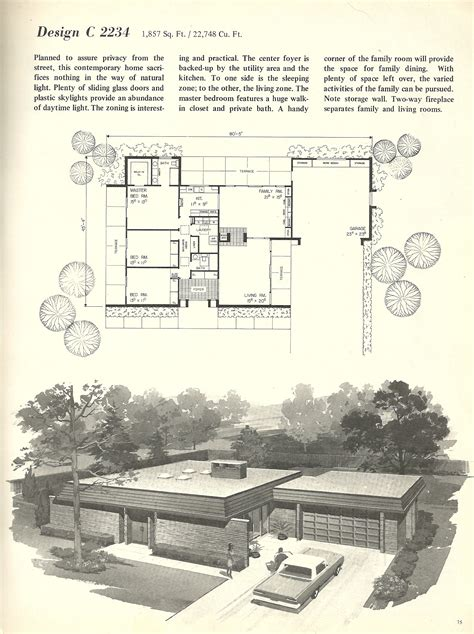 mid century modern floor plans plan house wooden bench diy vintage mid century modern house plans house design plans