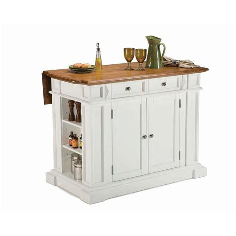 White Kitchen Island With Drop Leaf with Home Styles Americana White Kitchen Island With Drop Leaf 5002 94 The Home Depot