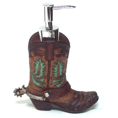 Cowboy Bathroom Accessories Western Bath Decor Cowboy Boot With Spur Lotion