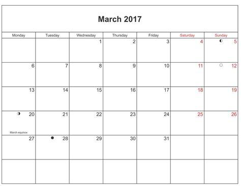 2017 Scheduling Calendar March 2017 Moon Phase Calendar Moon Schedule Free