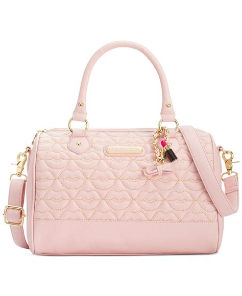 Betsey Johnson For Valentines Day 2 by Lyst Betsey Johnson Blush Quilted Satchel In Pink