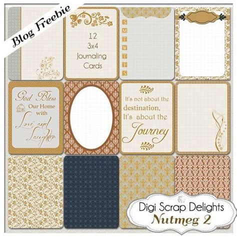 free digital scrapbooking card templates journal cards project and printable project on