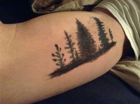 simple nature tattoos cool idea manly nature forest