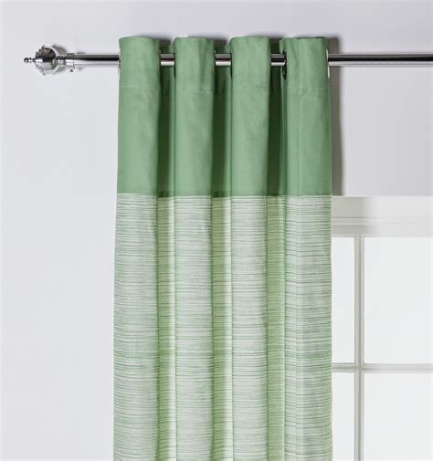 unlined curtains leaves unlined curtains 117x183cm green