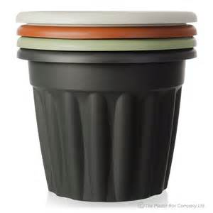 buy large plastic flower plant pot vista range green black
