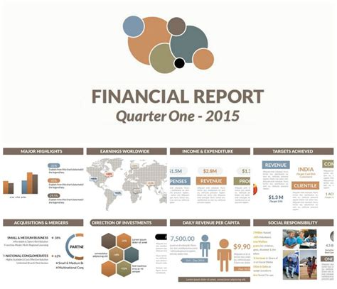 autumn color scheme powerpoint template financial
