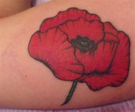 poppy tattoo designs foot poppy images designs