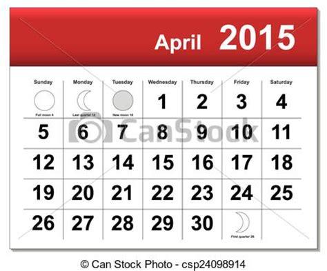 What Does Calendario Vector Clip Of Eps10 File April 2015 Calendar The