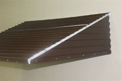 Metal Awning Kits by Awning Kit Aluminum Brown 46 Quot Wide X 36 Quot Droop X 15 Quot Sides High Window Front Door Patio