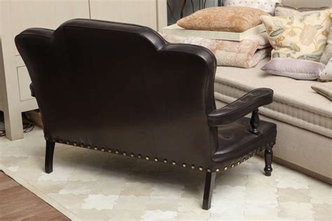 leather settees leather settee at 1stdibs