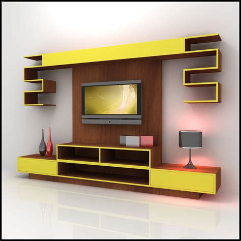 tv wall unit modern design x 10 3d models cgtrader