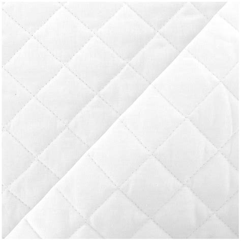 White Quilted Fabric by Quilted Cotton Fabric Neige Optical White X 10cm Ma