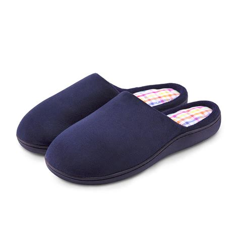 slippers isotoner isotoner suedette pillowstep mule slippers totes isotoner