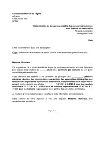 Exemple De Lettre De Démission Fonctionnaire Modele Lettre De Demission Contractuel Fonction Publique Document