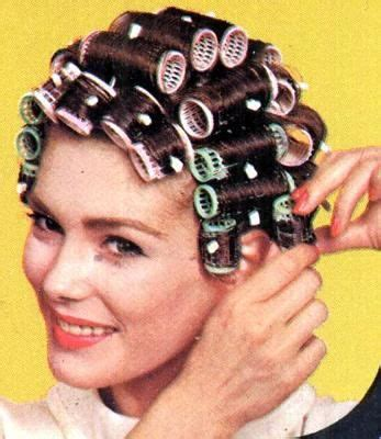 she set his hair in curlers beautiful plastic brush roller set childhood nostalgia