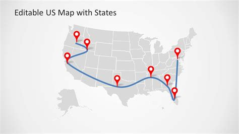 us map powerpoint template editable us powerpoint map with states and map pointers
