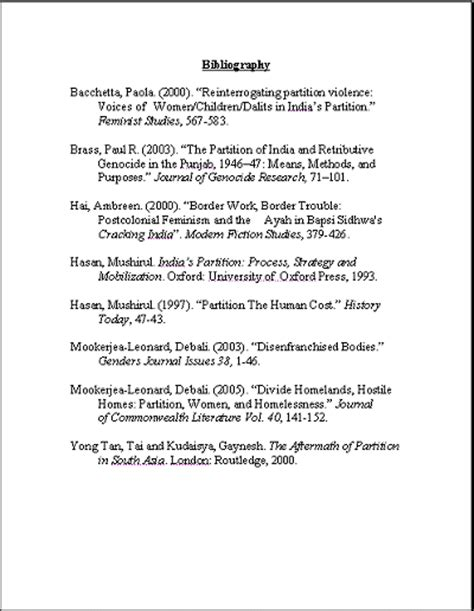 template for bibliography bibliographies