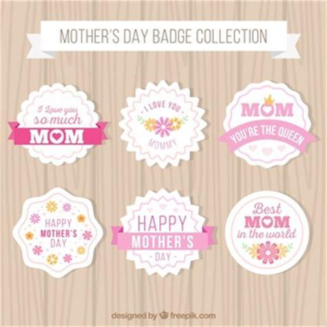S Day Badges Golden Framed Labels Vector Free