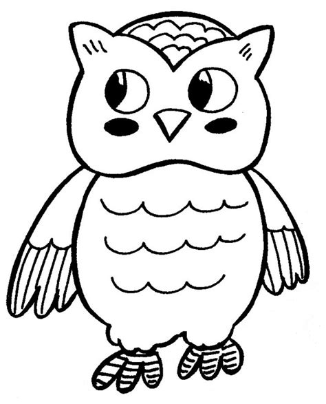 printable owl to color cute owl coloring pages az coloring pages