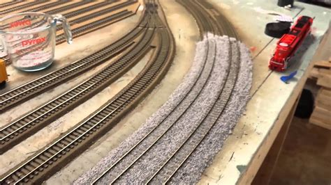 layout update  ballast dcc wiring   youtube