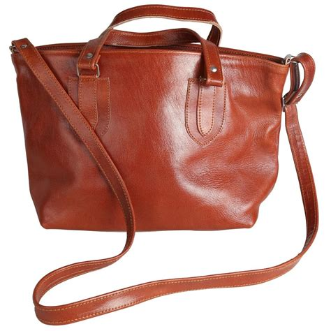 Handmade Leather Bags - handmade leather tote bag large jpg