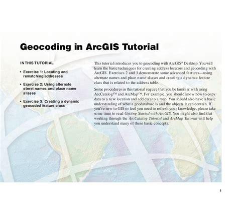 arcgis sde tutorial geocoding in arc gis tutorial