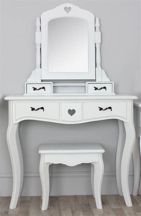 narrow white vanity table   drawers  spinning mirror  designs  handy vanity