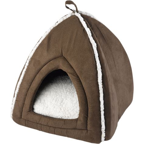 cat igloo bed mollies pet face kitten igloo style bed luxurious warm comfort cat dog bedding ebay