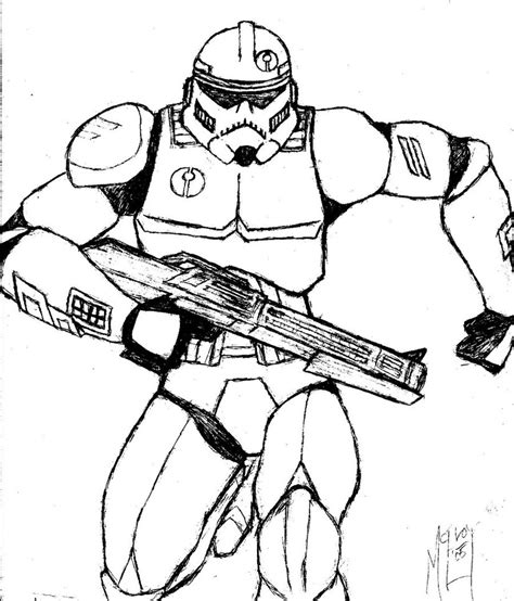 printable coloring pages wars clone troopers clone trooper assassin sketch by ugccomics on deviantart