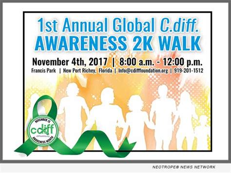 c diff hydration inaugural global c diff 2k walk to raise awareness on