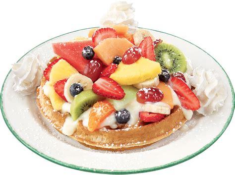 fruit waffles breakfast menu gt waffles gt waffle with a mountain of fresh