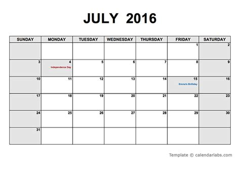 2016 monthly calendar pdf free printable templates