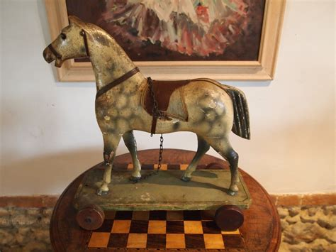 cloverleaf home interiors antiques atlas horse folk art pull along childs german