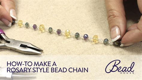 how to make beaded rosary how to make rosary style bead chain bead house