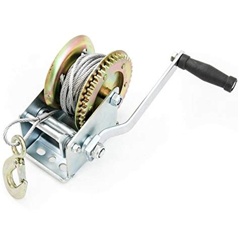 boat trailer winch cable hand winch 2000 lbs hand crank cable gear winch atv boat