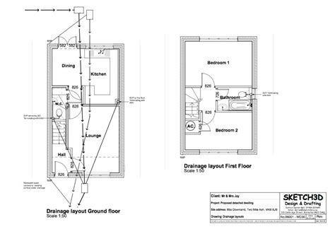 new build bedroom house design drainage plan house plans